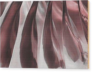 Shine On Metal II - Burgundy Tones Wood Print by Natalie Kinnear