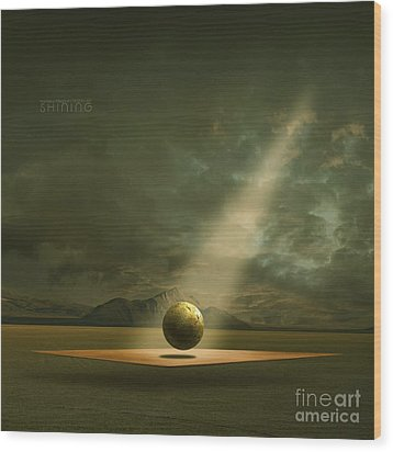 Wood Print featuring the painting Shining by Franziskus Pfleghart