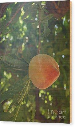 Shining Peach Wood Print by Kerri Mortenson