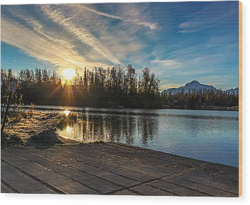 Shining Sunrise Wood Print by Tyler Olson
