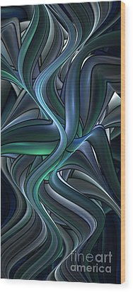 Shiny Pipes Wood Print by Jaclyn Hughes Fine Art