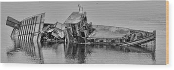 Wood Print featuring the photograph Ship Aground by Timothy Latta