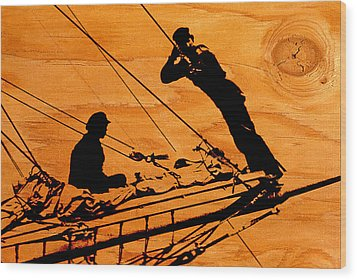 Wood Print featuring the photograph Ship Ahoy by Mike Flynn