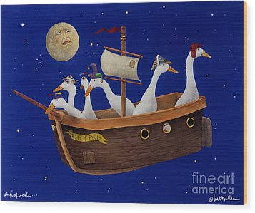 Ship Of Fools... Wood Print by Will Bullas