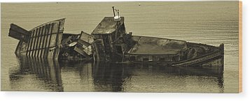 Wood Print featuring the photograph Ship Wrecked by Timothy Latta