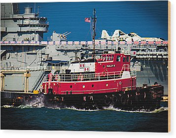 Wood Print featuring the photograph Shipping Lane Hero by Bartz Johnson
