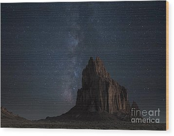 Shiprock Wood Print by Keith Kapple