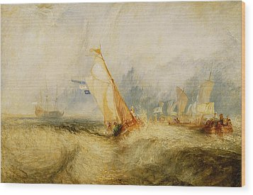 Ships A Sea Getting A Good Wetting Wood Print by Joseph Mallord