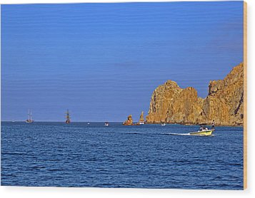 Wood Print featuring the photograph Ships Lining Up At Land's End by Christine Till