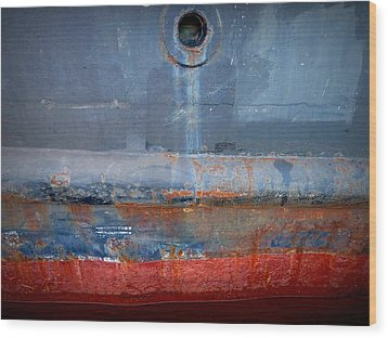 Shipside Abstract II Wood Print by Patricia Strand