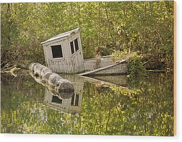 Shipwreck Silver Springs Florida Wood Print by Christine Till