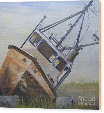 Shipwrecked Ike  Wood Print