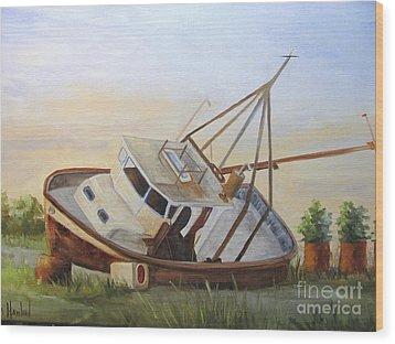 Shipwrecked Ike II Wood Print