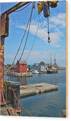 Shipyard Of Cape Ann... Wood Print by Joanne Beebe