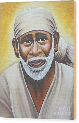 Shirdi Sai Baba Wood Print by Gayle Utter
