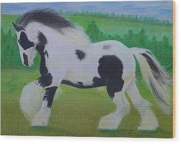 Shire Horse Wood Print by David Hawkes