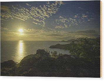 Shirley Heights Sunset Wood Print