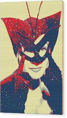 Shirley Maclaine In Artists And Models Wood Print by Art Cinema Gallery