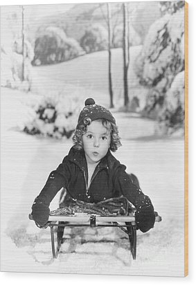 Shirley Temple Wood Print by MMG Archives