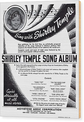 Shirley Temple Song Album Wood Print