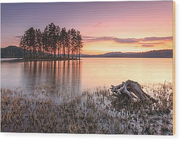 Shiroka Polyana Lake  Wood Print by Evgeni Dinev
