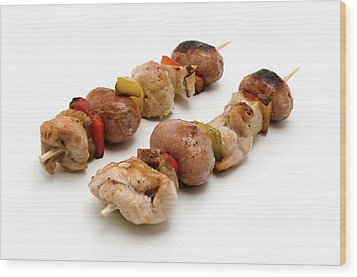 Shish Kebab Wood Print by Fabrizio Troiani