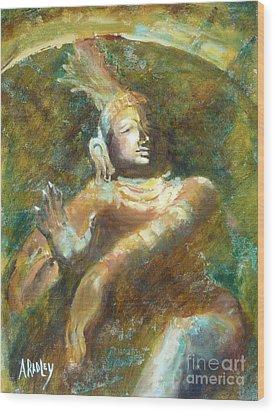 Shiva Creator Destroyer Wood Print by Ann Radley