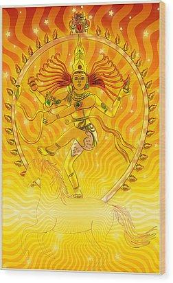 Shiva Nataraja Iv Wood Print