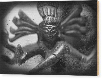 Shiva Nataraja  Wood Print by Tommytechno Sweden