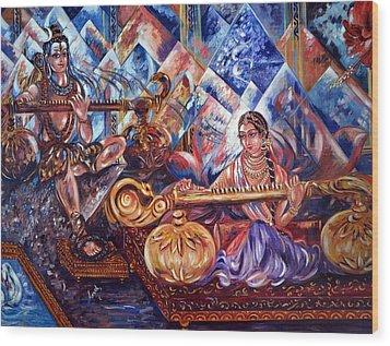 Shiva Parvati Wood Print