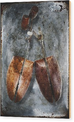 Shoe Trees Wood Print by Skip Nall