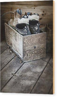 Shoebox Still Life Wood Print by Tom Mc Nemar