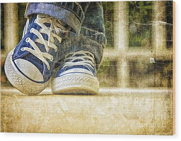 Wood Print featuring the photograph Shoes by Linda Blair