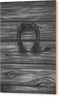 Shoes Of Horses Wood Print by J Ferwerda