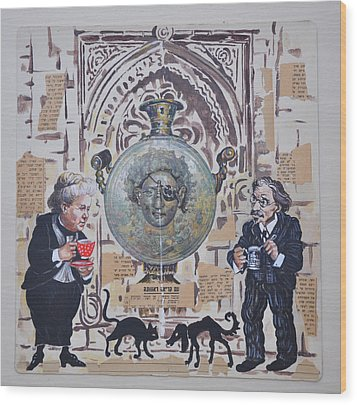 Sholem Aleichem And Selma Lagerlof In Jerusalem Wood Print by Nekoda  Singer