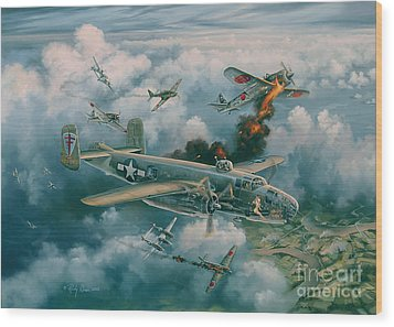 Shoot-out Over Saigon Wood Print by Randy Green