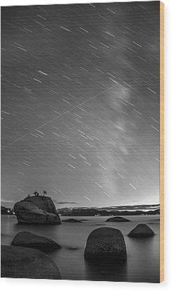 Shooting Stars Wood Print by Brad Scott