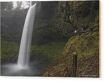 Shooting The Falls Wood Print by Nick  Boren