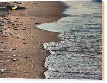 Shore Wood Print by Bruce Patrick Smith