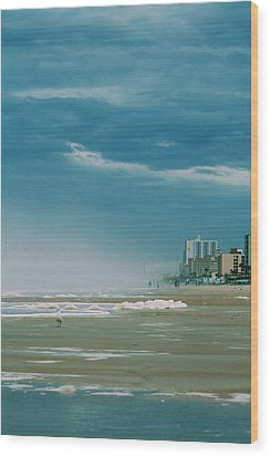 Shoreline Daytona Wood Print by Paulette Maffucci