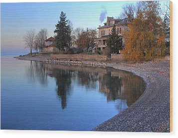 Shoreline - Kingston Ontario Wood Print by Jim Vance