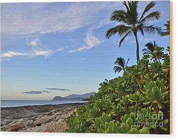 Wood Print featuring the photograph Shores Of Paradise by Gina Savage