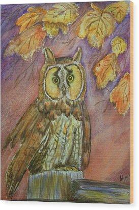 Short Eared Owl Wood Print by Belinda Lawson