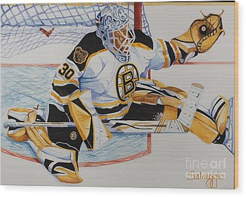 Short Side Save Wood Print by Alan Salvaggio