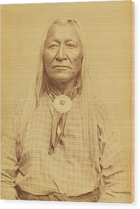 Shoshone Chief Washakie Wood Print by Paul Ashby Antique Image
