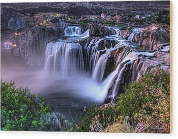 Shoshone Falls Wood Print by David Andersen