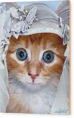 Shotgun Bride  Cats In Hats Wood Print by Michele Avanti