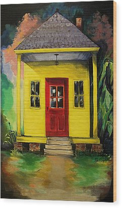 Shotgun House Wood Print