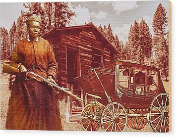 Shotgun Mary Wood Print