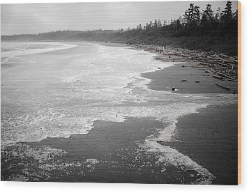 Winter At Wickaninnish Beach Wood Print